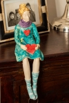 Figurine - Knitting Angel with Heart