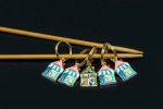 Metal Stitch Markers - Houses 5