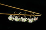 Metal Stitch Markers - Cats in Teacups 6