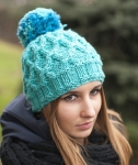 Pomponious Hat - digital knitting pattern - PDF