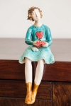 Figurine - Knitting Lady 2