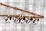 Metal Stitch Markers - Dog 1