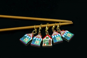 Metal Stitch Markers - Houses 1
