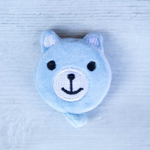 Cute retractable tape measure - Bear Light blue