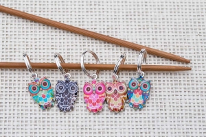 Metal Stitch Markers - Owl