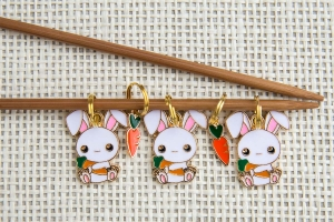 Metal Stitch Markers - Bunny