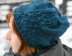 Cabletta Hat - digital knitting pattern - PDF