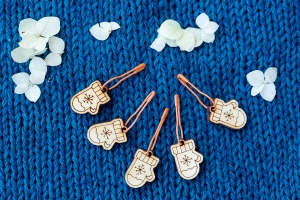 Wooden Stitch Markers - Gloves