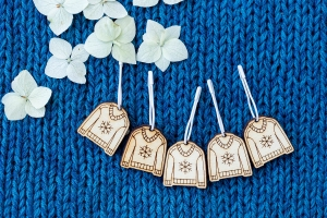 Wooden Stitch Markers - Sweater