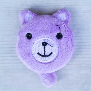 Cute retractable tape measure - Bear - Purple
