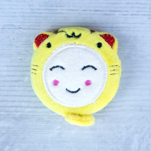 Cute retractable tape measure - Tiger - Yellow